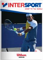 Portada Catálogo Intersport Tenis